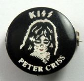 Kiss - 'Peter Criss' Round Lapel Badge
